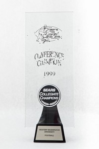 Football Trophy: Sears Collegiate Champions, Conference Champion, 1999