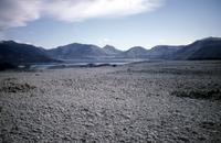 Pyroclastic flow below lip of crater, looking back toward Spirit Lake.