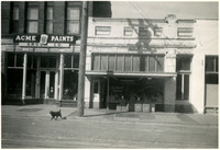 The fronts of two businesses located at 1208 and 1206 11th Street, Bellingham (Wash.)