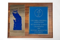 Football Plaque: Columbia Football Association Mount Rainier League Champions, 1995