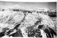 Aerial view of mountain range