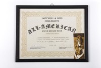 Field Hockey Certificate and Photograph: Mitchell and Ness Collegiate All American Team Certificate, Scarlet Kanistanaux