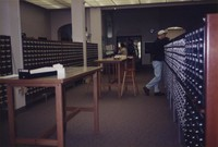 1996 Students at the Card Catalog