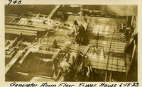 Lower Baker River dam construction 1925-06-15 Generator Room Floor Power House