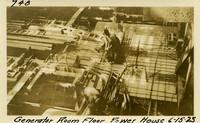 Lower Baker River dam construction 1925-06-15 Generator Room Floor Power House