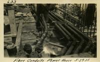 Lower Baker River dam construction 1925-05-29 Fibre Conduits Power House