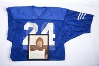 Football Jersey and Photograph: Photograph of Pat Locker and Jersey #24, Halfback, jersey retired, honors and records, 1980