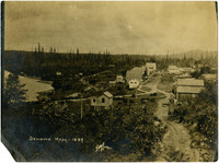 Sehome, Wash. 1889 - View from hillside of village of Sehome with Bellingham Bay shoreline