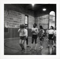 1965 Girls Doing Basketball Drills (Foul Shots)