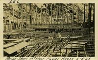 Lower Baker River dam construction 1925-06-04 Reinf Steel 1st Floor Power House