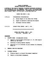 WWU Board minutes 1991 June