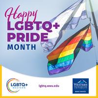 LGBTQ+ Western Happy LGBTQ+ Pride Month IG ad