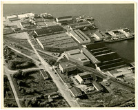 Aerial view of Pacific American Fisheries complex on Bellingham Bay in south Bellingham