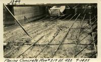 Lower Baker River dam construction 1925-09-14 Placing Concrete Run #219 El.420