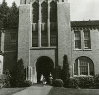 1960 Campus School Building Main Entrance (School's Out! )