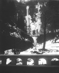 Unidentified mountain waterfall