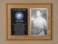Hall of Fame Plaque: Jim Adams, Men's Basketball (Forward), Class of 1983