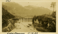Lower Baker River dam construction 1925-11-16 Lake Shannon (with railroad trestle)