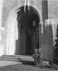 1943 Campus School Building Main Entrance Oblique View