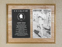Hall of Fame Plaque: Gerry Swan, Track and Field (Distance), Class of 1992