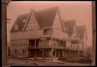 The Baker Hotel, a multi-gabled, five-story wood-built hotel in Sehome (later Bellingham), WA