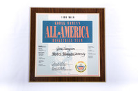 Basketball (Women's) Plaque: Kodak Women's All-America Basketball Team selection, Gina Sampson, 1996
