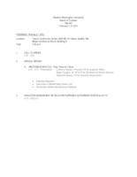 WWU Board of Trustees Packet: 2013-02-07