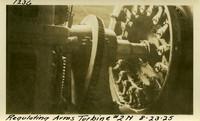 Lower Baker River dam construction 1925-08-23 Regulating Arms Turbine #2N