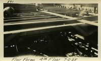 Lower Baker River dam construction 1925-07-02 Floor Forms 4th Floor
