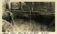 Lower Baker River dam construction 1925-09-05 Reinf Steel Run #210 El.389