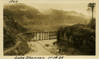 Lower Baker River dam construction 1925-11-14 Lake Shannon (with railroad trestle)