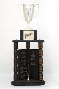 General Trophy: G. Robert Ross Memorial, WWU Athlete of the Year award (front), 1986/2013