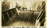 Lower Baker River dam construction 1925-10-07 Concrete Surface Run #233 El.310