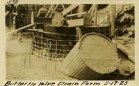 Lower Baker River dam construction 1925-05-17 Butterfly Valve Drain Form