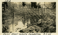 Lower Baker River dam construction 1925-09-07 Reinf Steel Intake Foundation