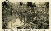 Lower Baker River dam construction 1925-09-07 Reinf Steel Intake Foundation