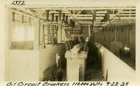 Lower Baker River dam construction 1925-09-22 Oil Circuit Breakers 110,000 Volts