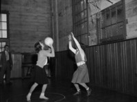 1948 Junior High Girls Playing Basketball