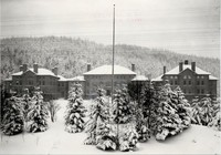 1909 Main Building in Snow