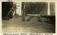 Lower Baker River dam construction 1925-09-22 Transmission Tower Foundation