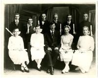 Lynden Christian Grade School's first graduating class in 1919