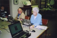 2007 Reunion--Marian Alexander, Earl Cilley and June (Carrick) Russell in Special Collections