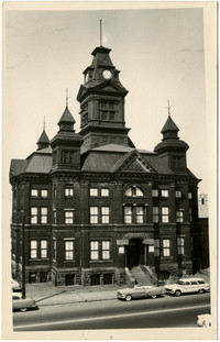 Bellingham City Hall building with clock tower, prior to being converted to museum