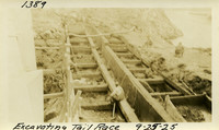 Lower Baker River dam construction 1925-09-25 Excavating Tail Race