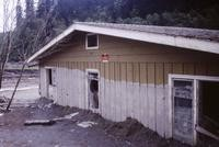 Home buried in mudflow at Maple Flat on North Fork of Toutle River.