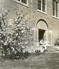 1960  Campus School Building Rear Entrance