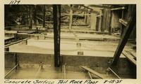 Lower Baker River dam construction 1925-08-15  Concrete Surface Tail race Floor