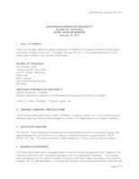 WWU Board of Trustees Meeting Records 2017 January