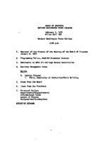 WWU Board minutes 1977 February