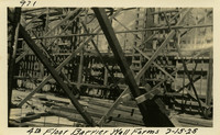 Lower Baker River dam construction 1925-07-15 4th Floor Barrier Wall Forms